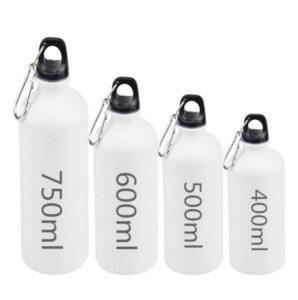 Фляжка-бутылка спортивная 750-400 мл белая