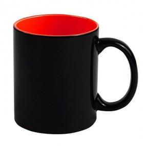 Кружка хамелеон черная внутри красная