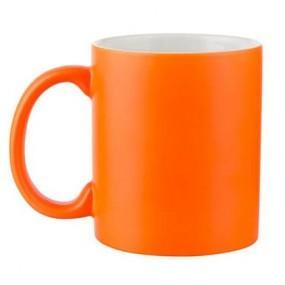 Кружка хамелеон оранжевая матовая