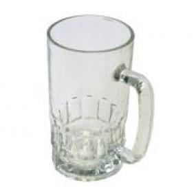 Кружка пивная стеклянная d=8.6см, h=15.7см, 500мл
