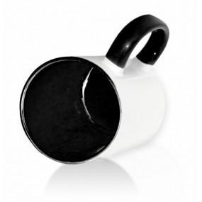 Кружка цветная внутри + ручка черная