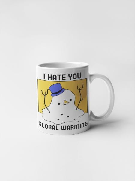 Кружка с печатью Глобальное потепление 2