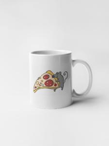 Кружка Мышь с кусочком пиццы
